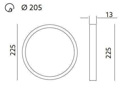 LED  Panel BRAVO CIRCLE rund 18W 4000K 1260lm Kobi