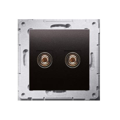 Lautsprecher Anschlussdose Modul-Einsätze 1fach anthrazit matt Kontakt Simon 54 Premium DGL2.01/48