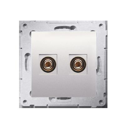 Lautsprecher Anschlussdose Modul-Einsätze 1fach cremeweiß Simon 54 Premium Kontakt Simon DGL2.01/41