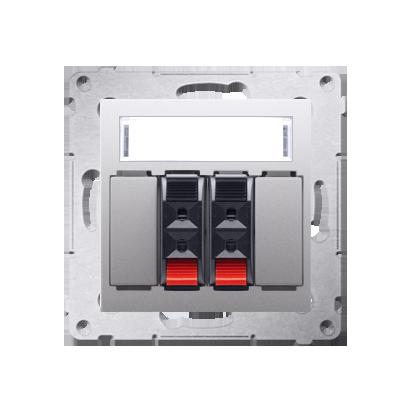 Lautsprecher Anschlussdose Modul-Einsätze 2fach silber matt Kontakt Simon 54 Premium DGL32.01/43
