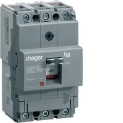 Leistungschalter h3 x160 TM ADJ 3P3D 25A 40kA CTC Hager HNA025H