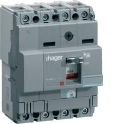 Leistungschalter h3 x160 TM ADJ 4P4D N0-100% 125A 40kA CTC Hager HNA126H