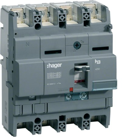 Leistungsschalter Baugröße x250 4polig 40kA 100A TM N 60% geschützt Hager HNB102H