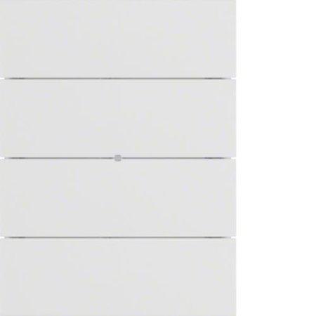Lichtszenentastsensor 8fach Komfort B.IQ Glas polarweiß matt Hager 75168699
