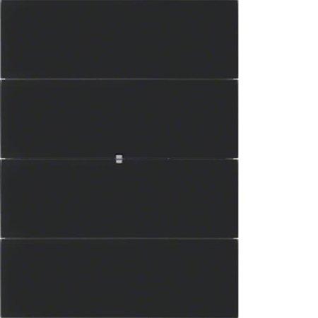 Lichtszenentastsensor 8fach Komfort B.IQ Glas schwarz Hager 75168692