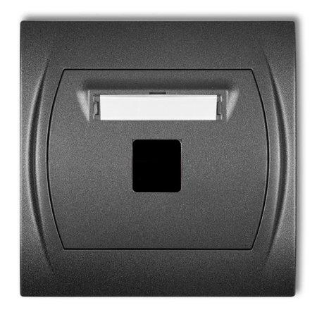 Multimedia-Steckdose ohne Modul (Keystone-Standard) graphit IP20 (Serie/Kategorie: LOGO) 11LGM-1P