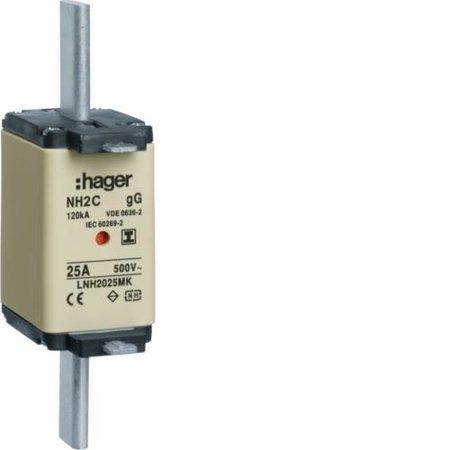 NH-Sicherungseinsatz NH2C gG 500V 40A Kombi- Melder spannungsfreie Grifflasche Hager LNH2040MK