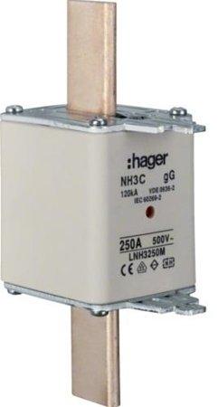 NH-Sicherungseinsatz NH3C gG 500V 300A Kombi- Melder Grifflasche spannungsführend Hager LNH3300M