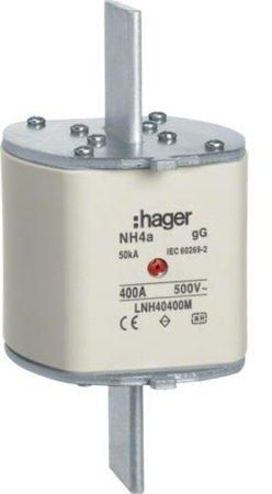 NH-Sicherungseinsatz NH4 gG 500V 800A Mittekennmelder Grifflasche Spgs.-führend Hager LNH40800SM