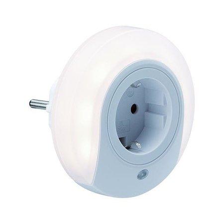 Nachtbeleuchtung Nachtlicht AS Esby weißer Stecker 0,2W 3000K mit Bewegungsmelder Paulmann PL92494