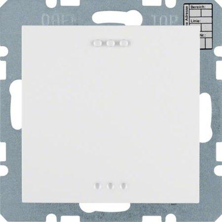 Objekt-Temperaturregler mit Tasterschnittstelle S.1 polarweiß glänzend Hager 75441259