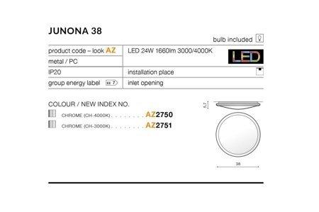 Plafond JUNONA 38 Modern Metall, PC Chrom Azzardo AZ2750