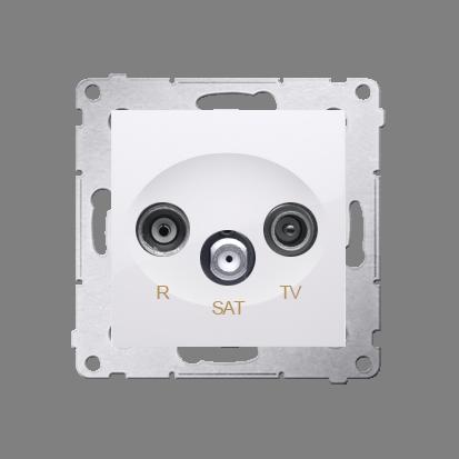 R-TV-SAT-Enddose Einsatz weiß glänzend Simon 54 Premium Kontakt Simon DASK.01/11