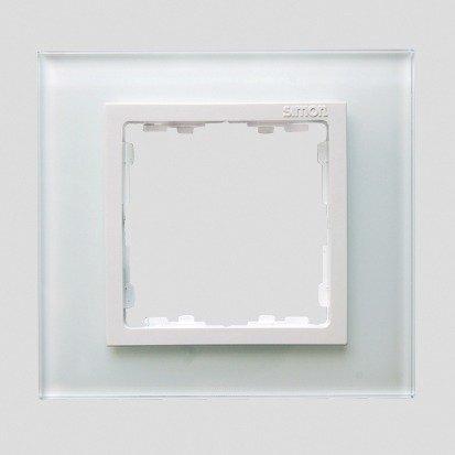 Rahmen 1fach Glas weiß/ Zwischenrahmen weiß Kontakt Simon 82 82617-30