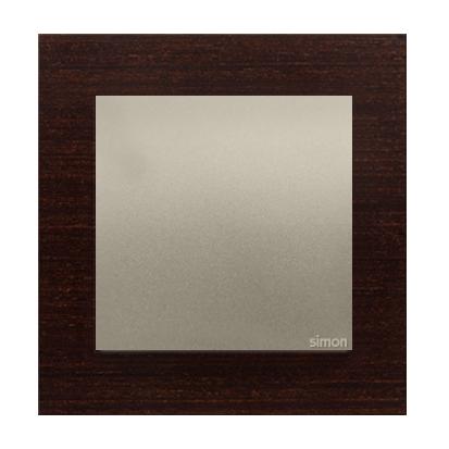 Rahmen 1fach Holz gold Wenge matt Kontakt Simon 54 Nature DRN1/85