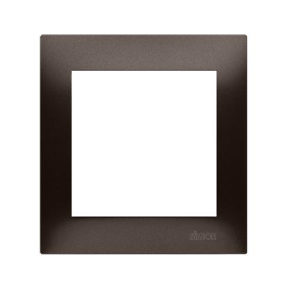 Rahmen 1fach für Hohlwanddose Gipskarton braun matt IP20/IP44 Simon 54 Premium Kontakt Simon DRK1/46