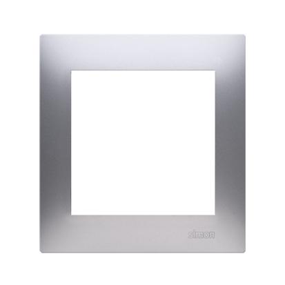 Rahmen 1fach für Hohlwanddose Gipskarton silber matt IP20/IP44 Kontakt Simon 54 Premium DRK1/43