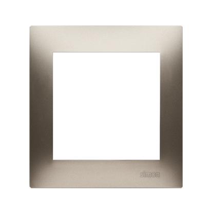Rahmen 1fach gold matt IP20/IP44 Simon 54 Premium Kontakt Simon DR1/44