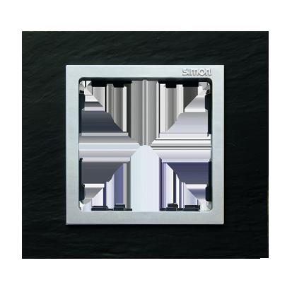 Rahmen 1fach schiefer/ Zwischenrahmen aluminium matt Kontakt Simon 82 82917-63