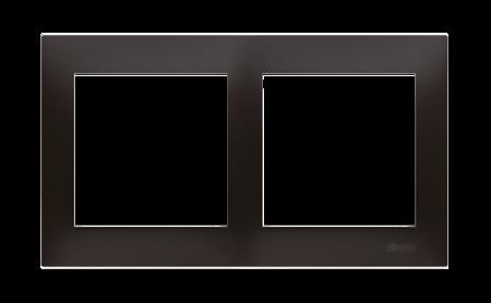 Rahmen 2fach für Hohlwanddose Gipskarton anthrazit matt IP20/IP44 Kontakt Simon 54 Premium DRK2/48