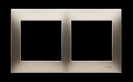 Rahmen 2fach für Hohlwanddose Gipskarton gold matt IP20/IP44 Simon 54 Premium Kontakt Simon DRK2/44