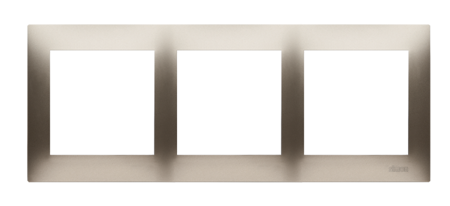 Rahmen 3fach gold matt IP20/IP44 Simon 54 Premium Kontakt Simon DR3/44