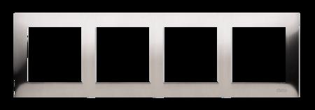 Rahmen 4fach Inox IP20/IP44 Simon 54 Premium Kontakt Simon DR4/61