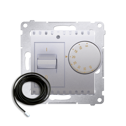 Raumtemperatur- Regler mit Innensensor (Modul) inkl. Außensensor silber matt DRT10Z.02/43