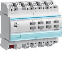 Schalt-/Jalousieaktor 8/4-fach KNX, 16A, C-Last, mit Handbedienung ohne Bus Hager TYA608D