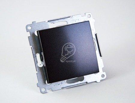 Schalter (Modul) 1polig Anthrazit matt mit Steckklemmen Simon 54 Premium Kontakt Simon DW1.01/48