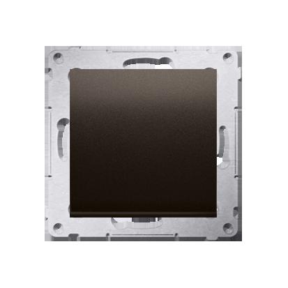 Schalter (Modul) einpolig mit Schraubklemmen brun matt Simon 54 Premium Kontakt Simon DW1A.01/46
