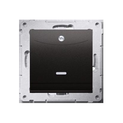 Schalter für Hotelkarte 2polig mit LED Nennstrom: 10A Anthrazit Kontakt Simon 54 Premium DWH2.01/48