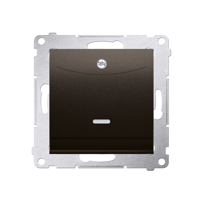 Schalter für Hotelkarte 2polig mit LED Nennstrom: 10A Braun Kontakt Simon 54 Premium DWH2.01/46