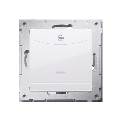 Schalter für Hotelkarte 2polig mit LED Nennstrom: 10A Weiß Kontakt Simon 54 Premium DWH2.01/11