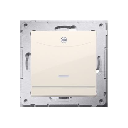 Schalter für Hotelkarte mit LED Nennstrom: 10A cremeweiß Kontakt Simon 54 Premium DWH1.01/41