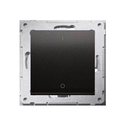 Schalter zweipolig mit Aufdruck und Anthrazit matt Kontakt Simon 54 Premium DW2A.01/48