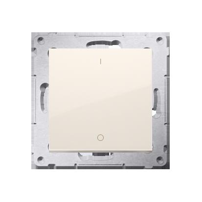 Schalter zweipolig mit Aufdruck und cremeweiß Kontakt Simon 54 Premium DW2A.01/41