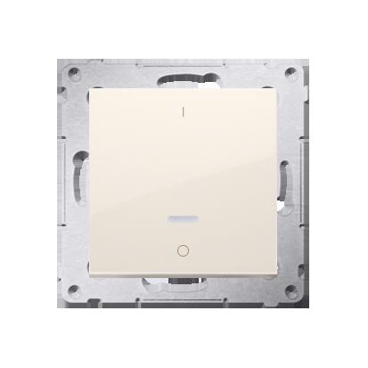 Schalter zweipolig mit LED und Aufdruck cremeweiß matt Kontakt Simon 54 Premium DW2L.01/41