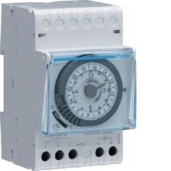 Schaltuhr elektromechanisch mit Gangreserve Tagesuhr 1W 16A Hager EH111