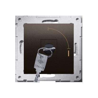 """Schlüsselschalter 1polig """"0-I"""" Braun Kontakt Simon 54 Premium DW1K.01/46"""