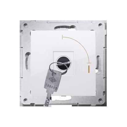 """Schlüsselschalter 1polig """"0-I"""" Weiß Kontakt Simon 54 Premium DP1K.01/11"""