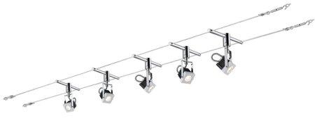 Seilsystem LED Mezzo 5x5W Chrom 12V weiß Chrom