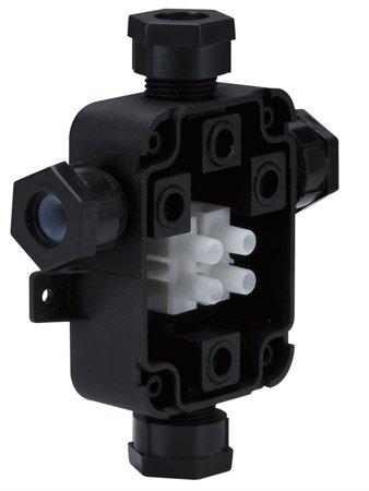 Splitter mit Wasserdichtigkeit IP67 Schwarz