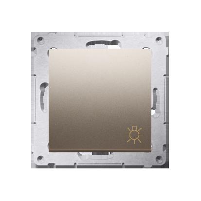 """Taster 1fach mit Aufdruck """"Licht"""" und Gold matt Kontakt Simon 54 Premium DS1.01/44"""