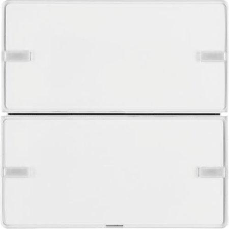 Tastsensor 2fach Komfort mit Beschriftungsfeld KNX Q.x polarweiß samt Hager 80142329