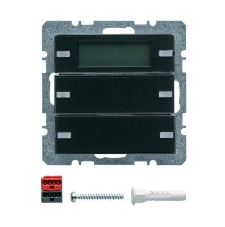 Tastsensor 2fach mit Beschriftungsfeldern RTR Display Q.1/Q.3 anthrazit samt Hager 75662726