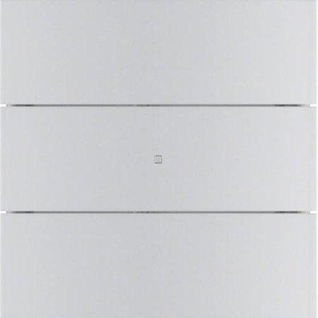 Tastsensor 3fach B.IQ Glas Alu Hager 75163594