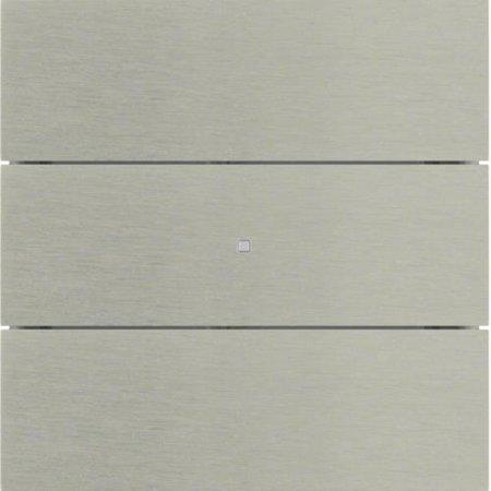 Tastsensor 3fach B.IQ Glas Edelstahl Rostfrei Hager 75163593