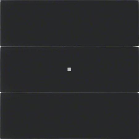 Tastsensor 3fach B.IQ Glas schwarz Hager 75163092