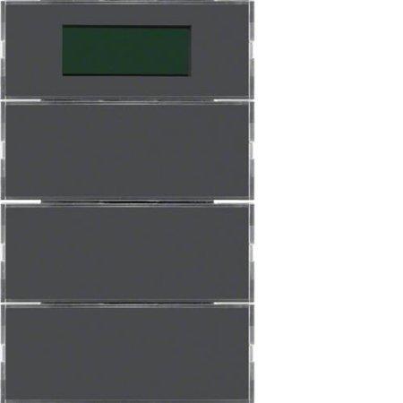 Tastsensor 3fach mit RTR, Display K.1 anthrazit Hager 75663775